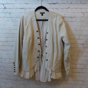 Torrid Tan Twill Peplum Military Jacket Size 3